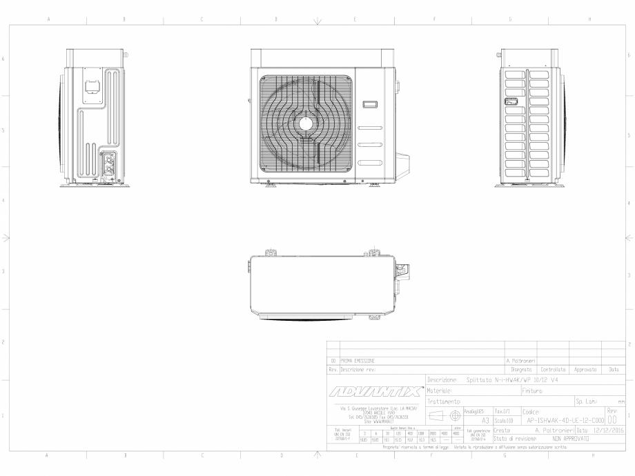 Pagina 1 - CAD-DWG  N-i-HWAK V4 10-12 kW in varianta splitata  MAXA Detaliu de produs i-HWAK