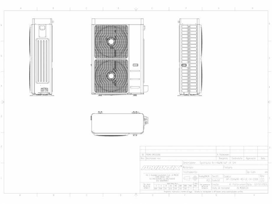 Pagina 1 - CAD-DWG  N-i-HWAK V4 14-16 kW in varianta splitata  MAXA Detaliu de produs i-HWAK