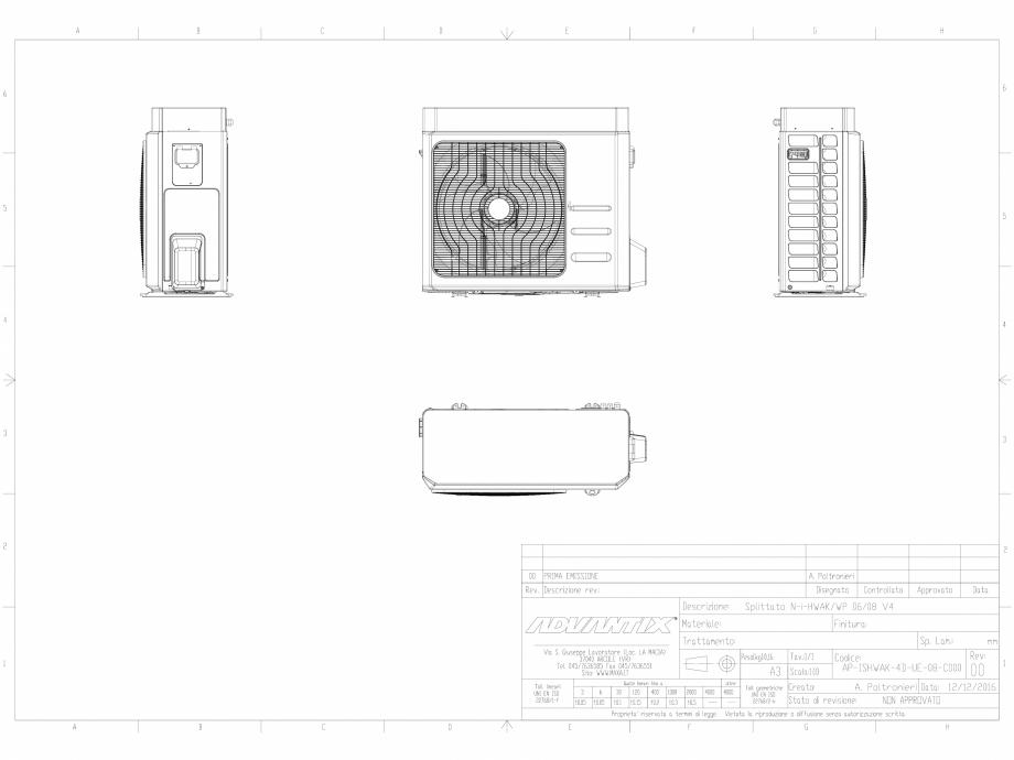 Pagina 1 - CAD-DWG  N-i-HWAK V4 06-08 kW in varianta splitata  MAXA Detaliu de produs i-HWAK