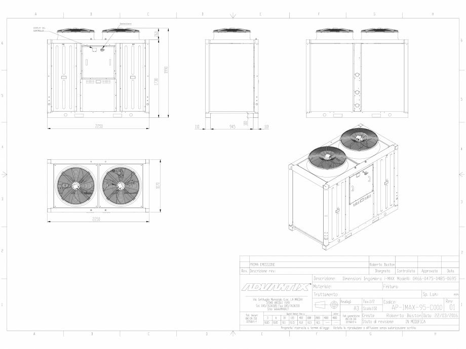 Pagina 1 - CAD-DWG Dimensiuni chillere 3D INVERTER i-Max MAXA Detaliu de produs i-MAX