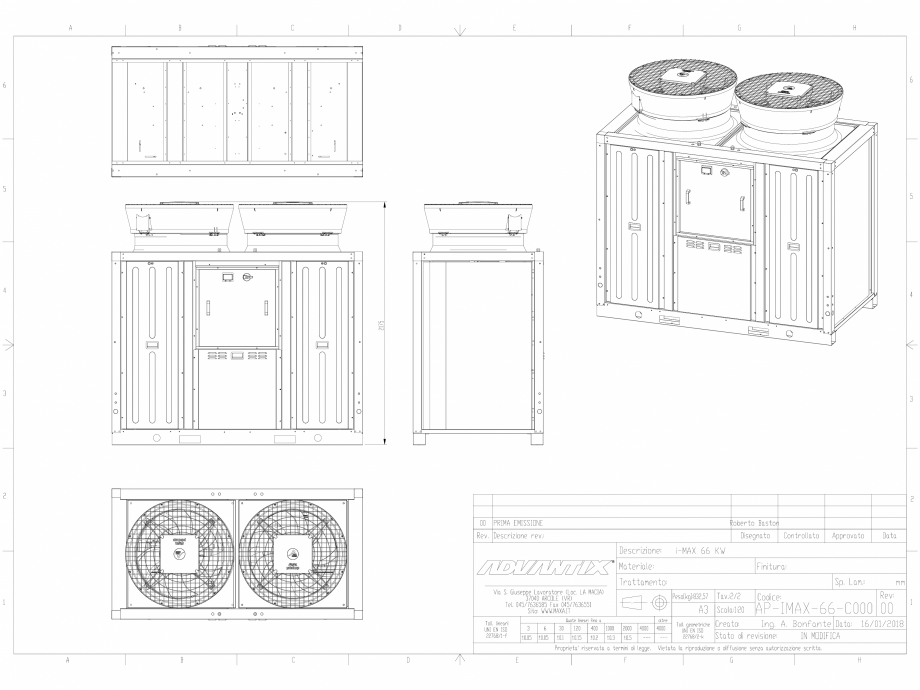 Pagina 1 - CAD-DWG Chillerul 3D INVERTER - i-Max 66kW MAXA Detaliu de produs i-MAX