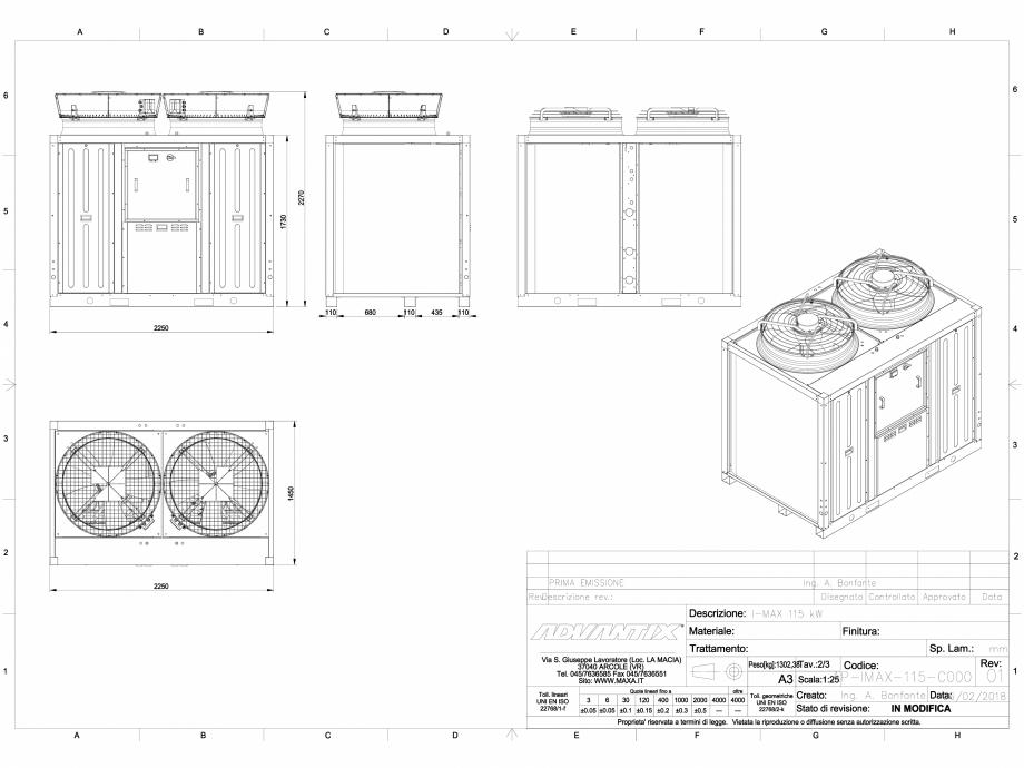 Pagina 1 - CAD-DWG Chiller i-MAX 115 kW MAXA Detaliu de produs i-MAX