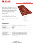 Tabla tip tigla BILKA - CLASIC - 0.50 mm, mat - sidefat