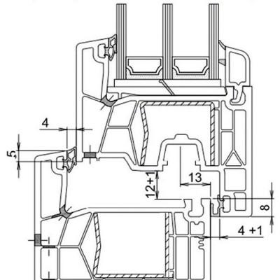 Panoramika Schita Trocal 76 AD - Ferestre din PVC Panoramika