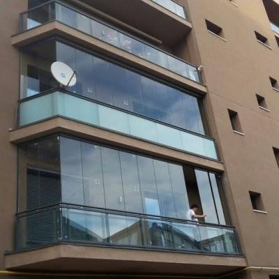 Panoramika Inchiderea balconului cu sistem glisant sticla - Sisteme glisante sticla pentru inchideri terase si balcoane