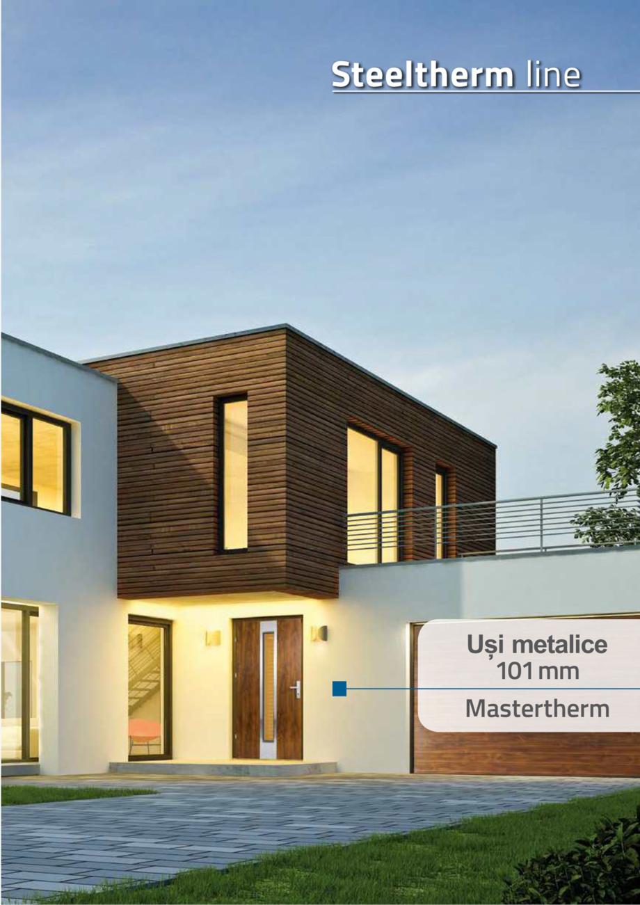 Pagina 3 - Catalog usi metalice pentru exterior Panoramika Mastertherm, 55  mm, 72 mm, 55 mm dubla, ...