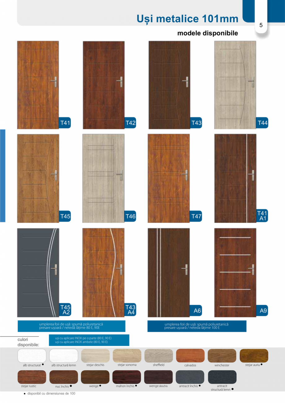 Pagina 4 - Catalog usi metalice pentru exterior Panoramika Mastertherm, 55  mm, 72 mm, 55 mm dubla, ...