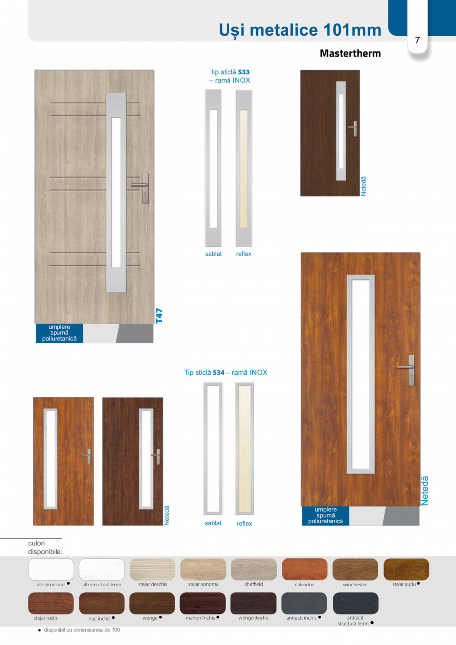 Pagina 6 - Catalog usi metalice pentru exterior Panoramika Mastertherm, 55  mm, 72 mm, 55 mm dubla, ...