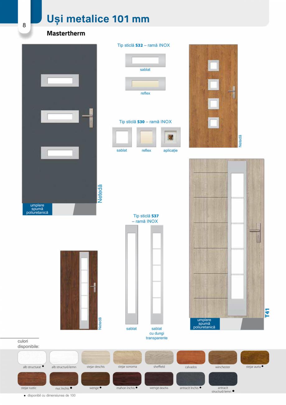 Pagina 7 - Catalog usi metalice pentru exterior Panoramika Mastertherm, 55  mm, 72 mm, 55 mm dubla, ...