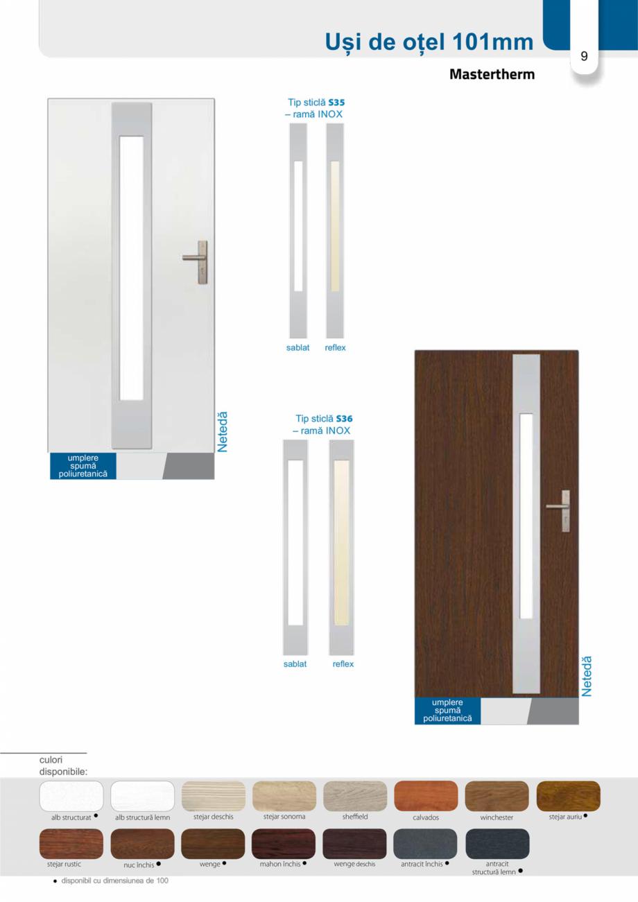 Pagina 8 - Catalog usi metalice pentru exterior Panoramika Mastertherm, 55  mm, 72 mm, 55 mm dubla, ...