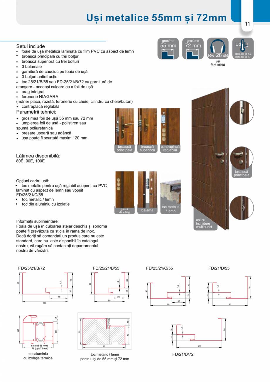 Pagina 10 - Catalog usi metalice pentru exterior Panoramika Mastertherm, 55  mm, 72 mm, 55 mm dubla,...