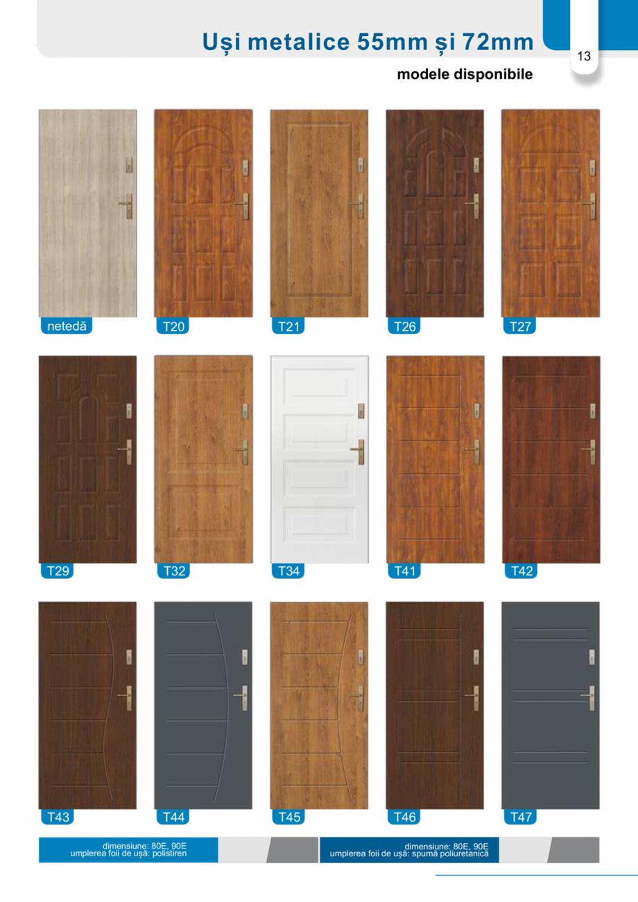 Pagina 12 - Catalog usi metalice pentru exterior Panoramika Mastertherm, 55  mm, 72 mm, 55 mm dubla,...
