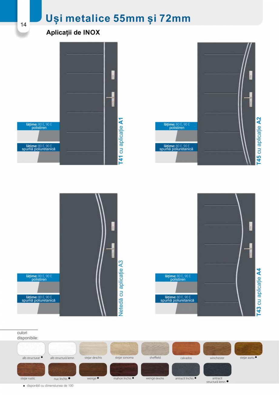 Pagina 13 - Catalog usi metalice pentru exterior Panoramika Mastertherm, 55  mm, 72 mm, 55 mm dubla,...