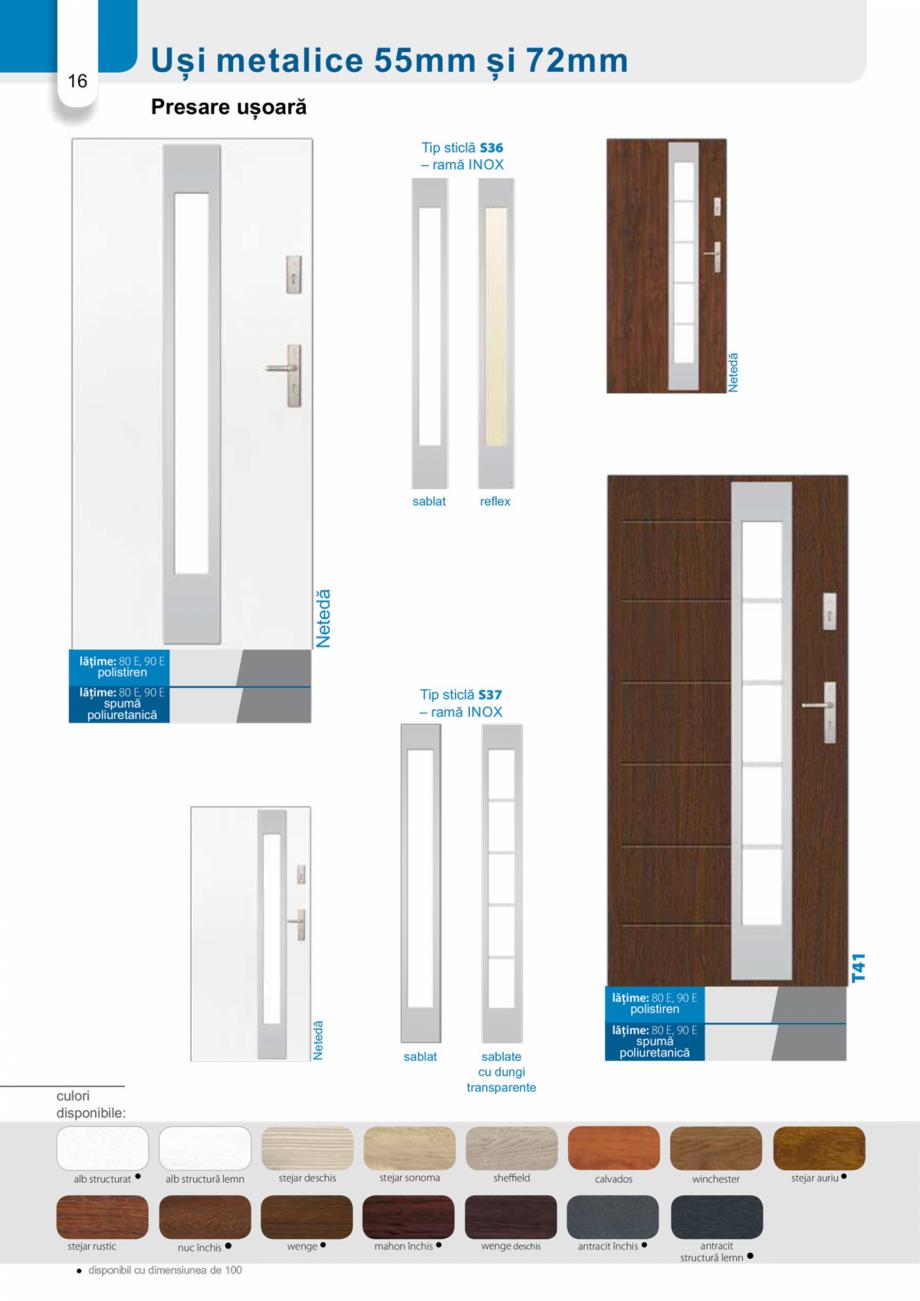Pagina 15 - Catalog usi metalice pentru exterior Panoramika Mastertherm, 55  mm, 72 mm, 55 mm dubla,...