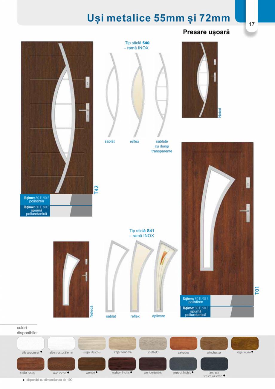Pagina 16 - Catalog usi metalice pentru exterior Panoramika Mastertherm, 55  mm, 72 mm, 55 mm dubla,...