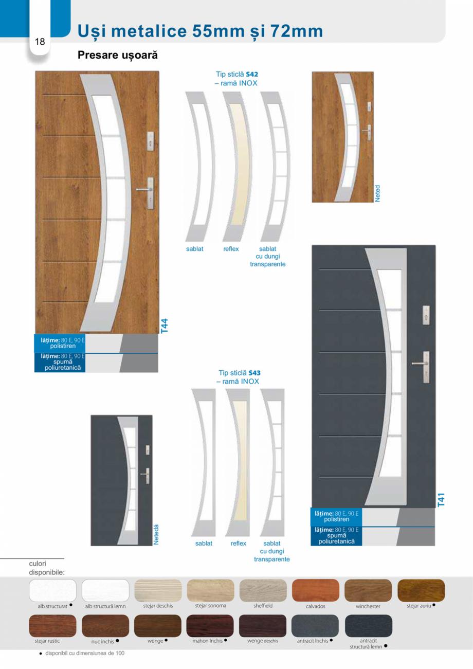Pagina 17 - Catalog usi metalice pentru exterior Panoramika Mastertherm, 55  mm, 72 mm, 55 mm dubla,...
