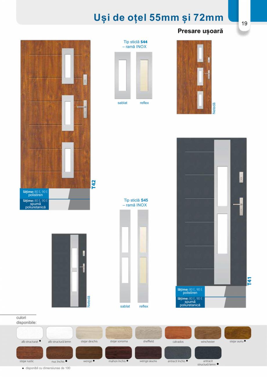Pagina 18 - Catalog usi metalice pentru exterior Panoramika Mastertherm, 55  mm, 72 mm, 55 mm dubla,...