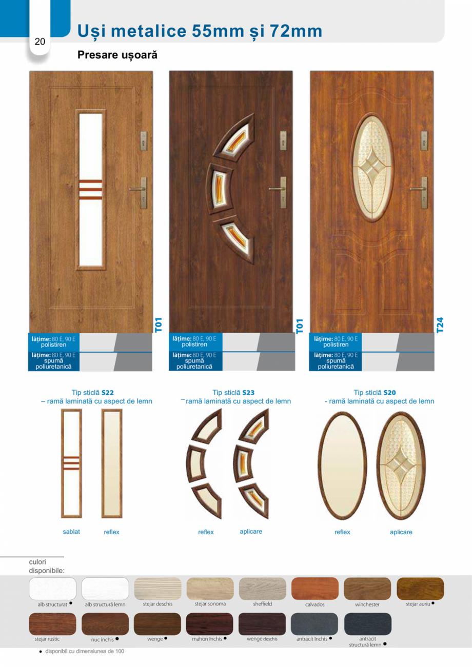 Pagina 19 - Catalog usi metalice pentru exterior Panoramika Mastertherm, 55  mm, 72 mm, 55 mm dubla,...