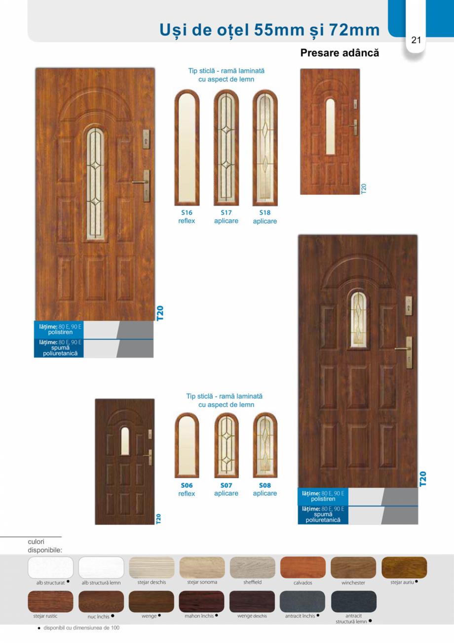 Pagina 20 - Catalog usi metalice pentru exterior Panoramika Mastertherm, 55  mm, 72 mm, 55 mm dubla,...