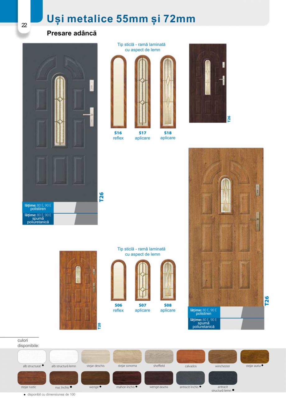 Pagina 21 - Catalog usi metalice pentru exterior Panoramika Mastertherm, 55  mm, 72 mm, 55 mm dubla,...