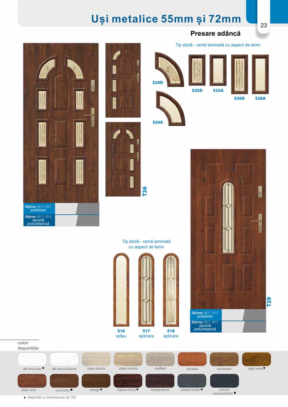 Pagina 22 - Catalog usi metalice pentru exterior Panoramika Mastertherm, 55  mm, 72 mm, 55 mm dubla,...