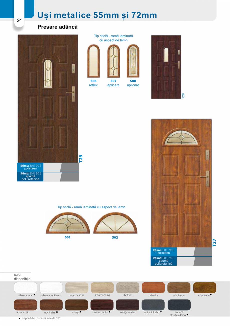 Pagina 23 - Catalog usi metalice pentru exterior Panoramika Mastertherm, 55  mm, 72 mm, 55 mm dubla,...