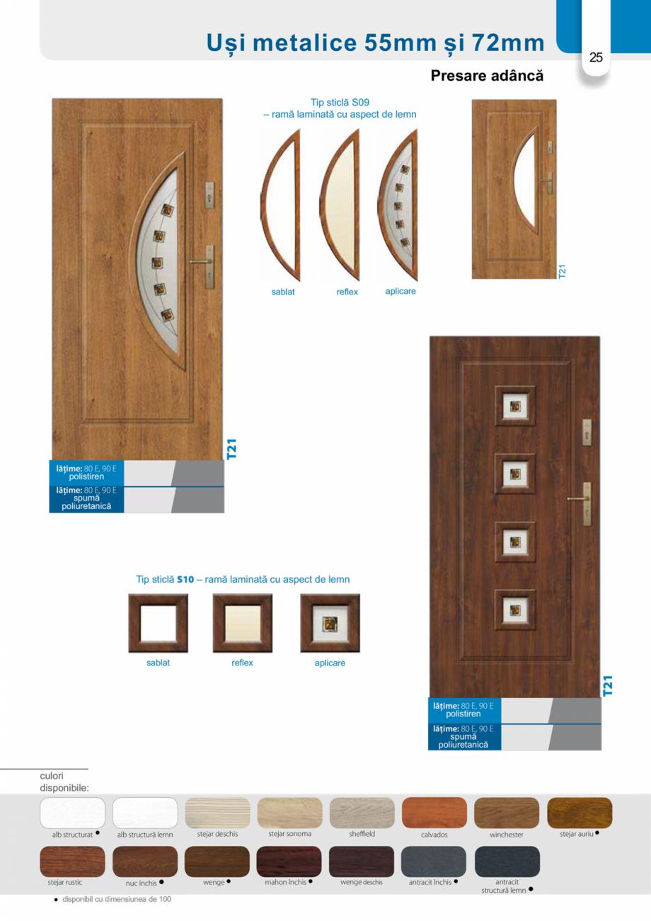 Pagina 24 - Catalog usi metalice pentru exterior Panoramika Mastertherm, 55  mm, 72 mm, 55 mm dubla,...