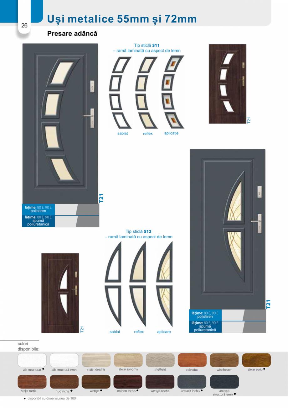 Pagina 25 - Catalog usi metalice pentru exterior Panoramika Mastertherm, 55  mm, 72 mm, 55 mm dubla,...