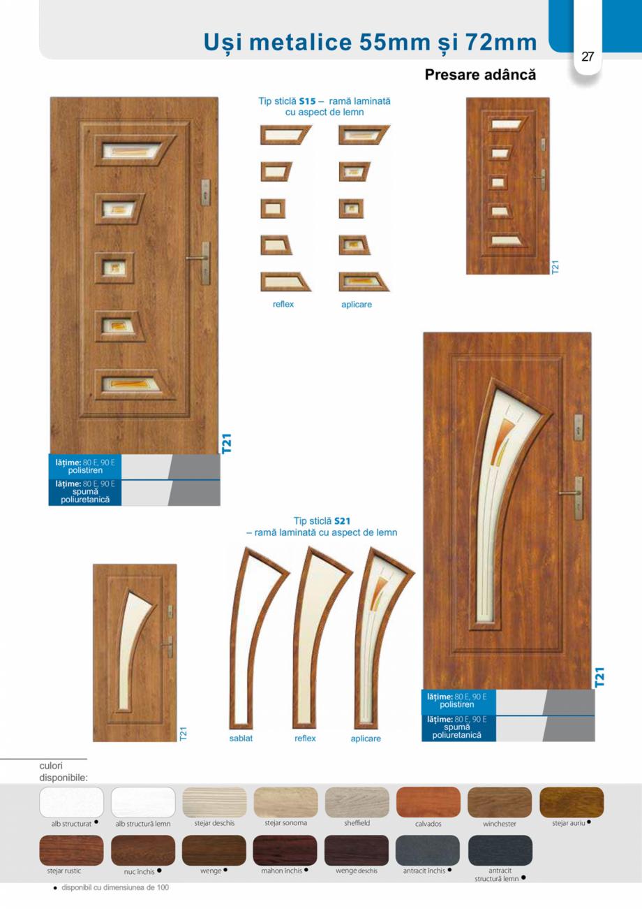 Pagina 26 - Catalog usi metalice pentru exterior Panoramika Mastertherm, 55  mm, 72 mm, 55 mm dubla,...