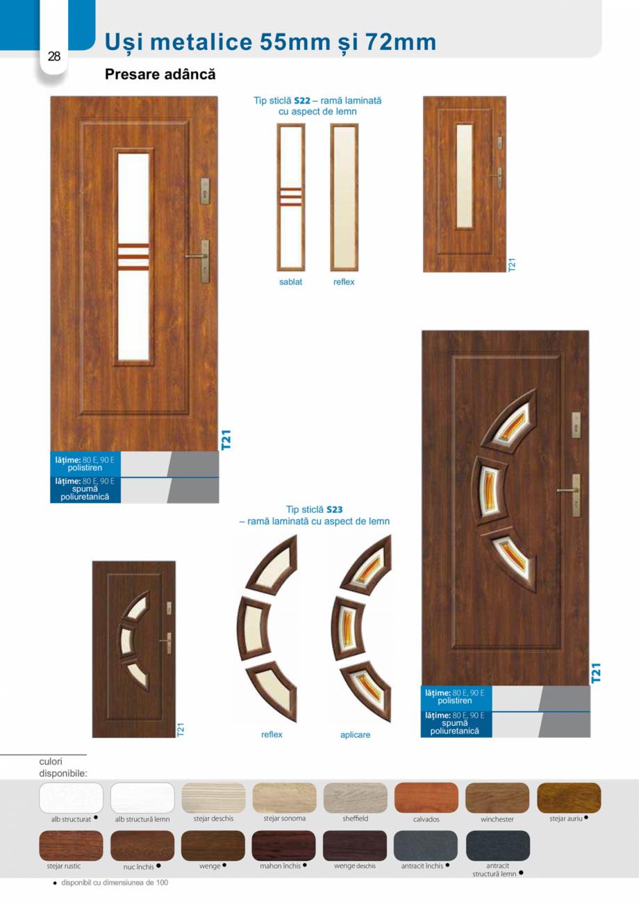 Pagina 27 - Catalog usi metalice pentru exterior Panoramika Mastertherm, 55  mm, 72 mm, 55 mm dubla,...