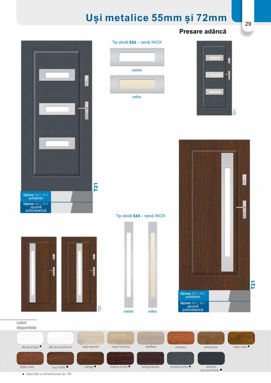 Pagina 28 - Catalog usi metalice pentru exterior Panoramika Mastertherm, 55  mm, 72 mm, 55 mm dubla,...