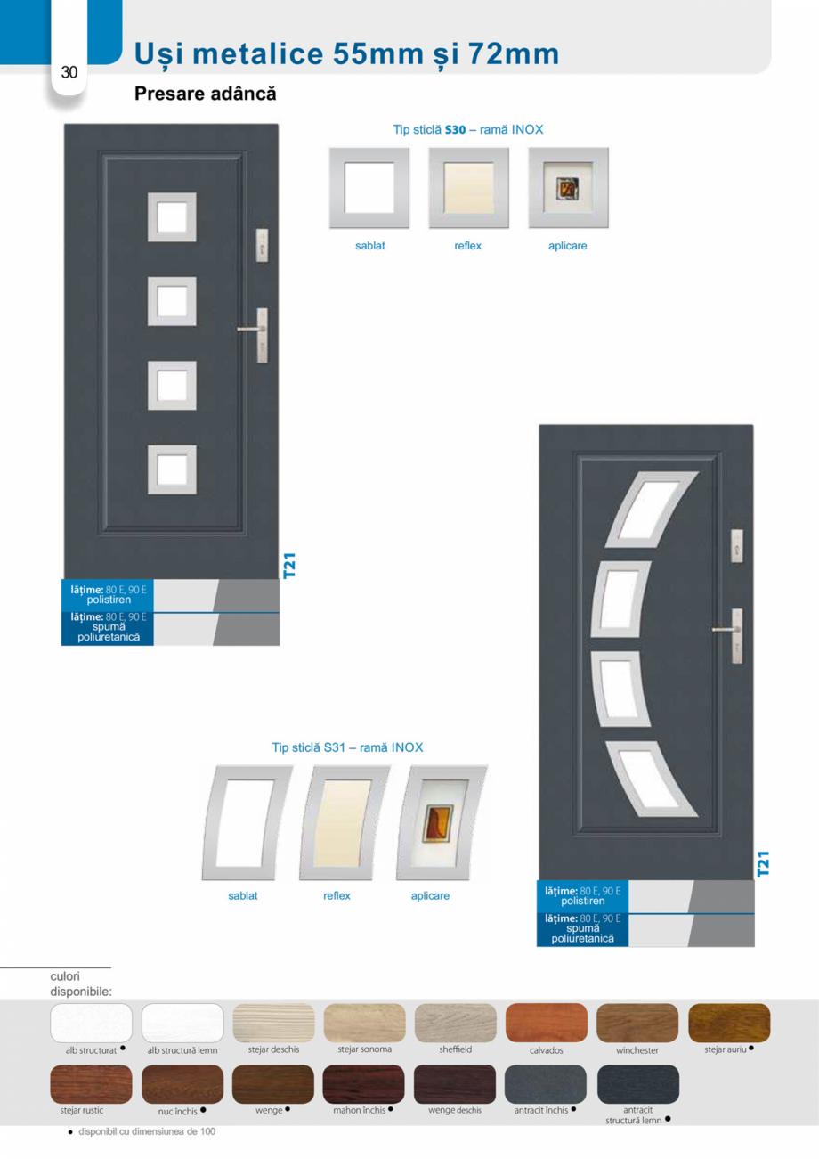 Pagina 29 - Catalog usi metalice pentru exterior Panoramika Mastertherm, 55  mm, 72 mm, 55 mm dubla,...