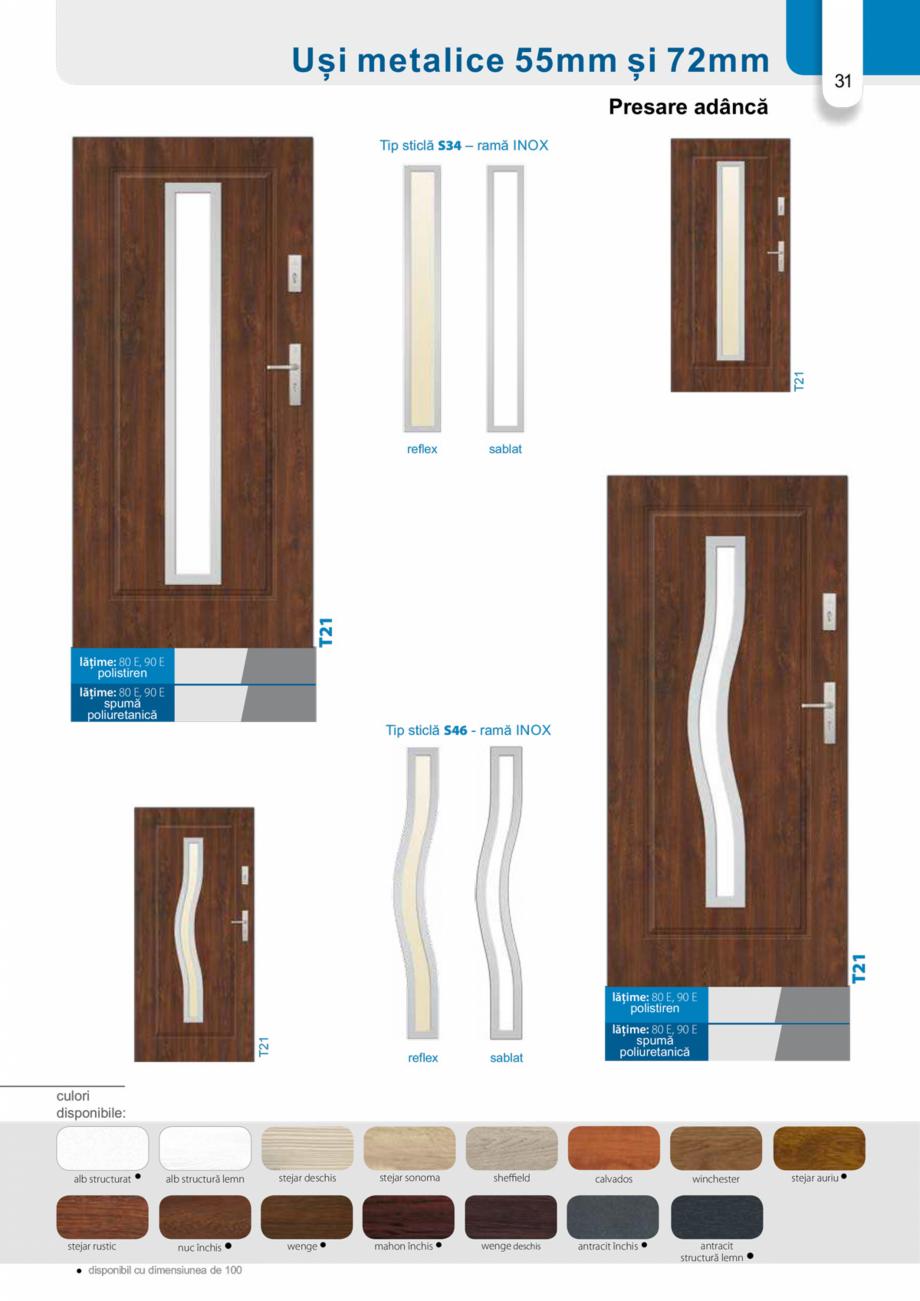 Pagina 30 - Catalog usi metalice pentru exterior Panoramika Mastertherm, 55  mm, 72 mm, 55 mm dubla,...