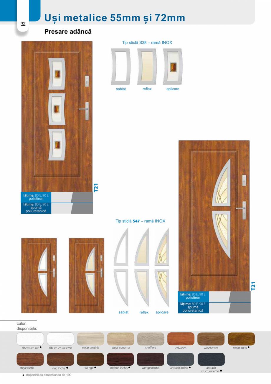 Pagina 31 - Catalog usi metalice pentru exterior Panoramika Mastertherm, 55  mm, 72 mm, 55 mm dubla,...