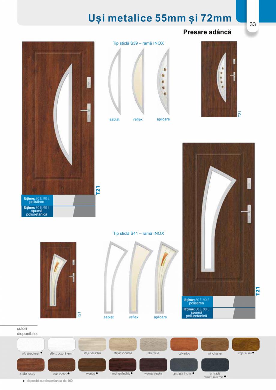 Pagina 32 - Catalog usi metalice pentru exterior Panoramika Mastertherm, 55  mm, 72 mm, 55 mm dubla,...
