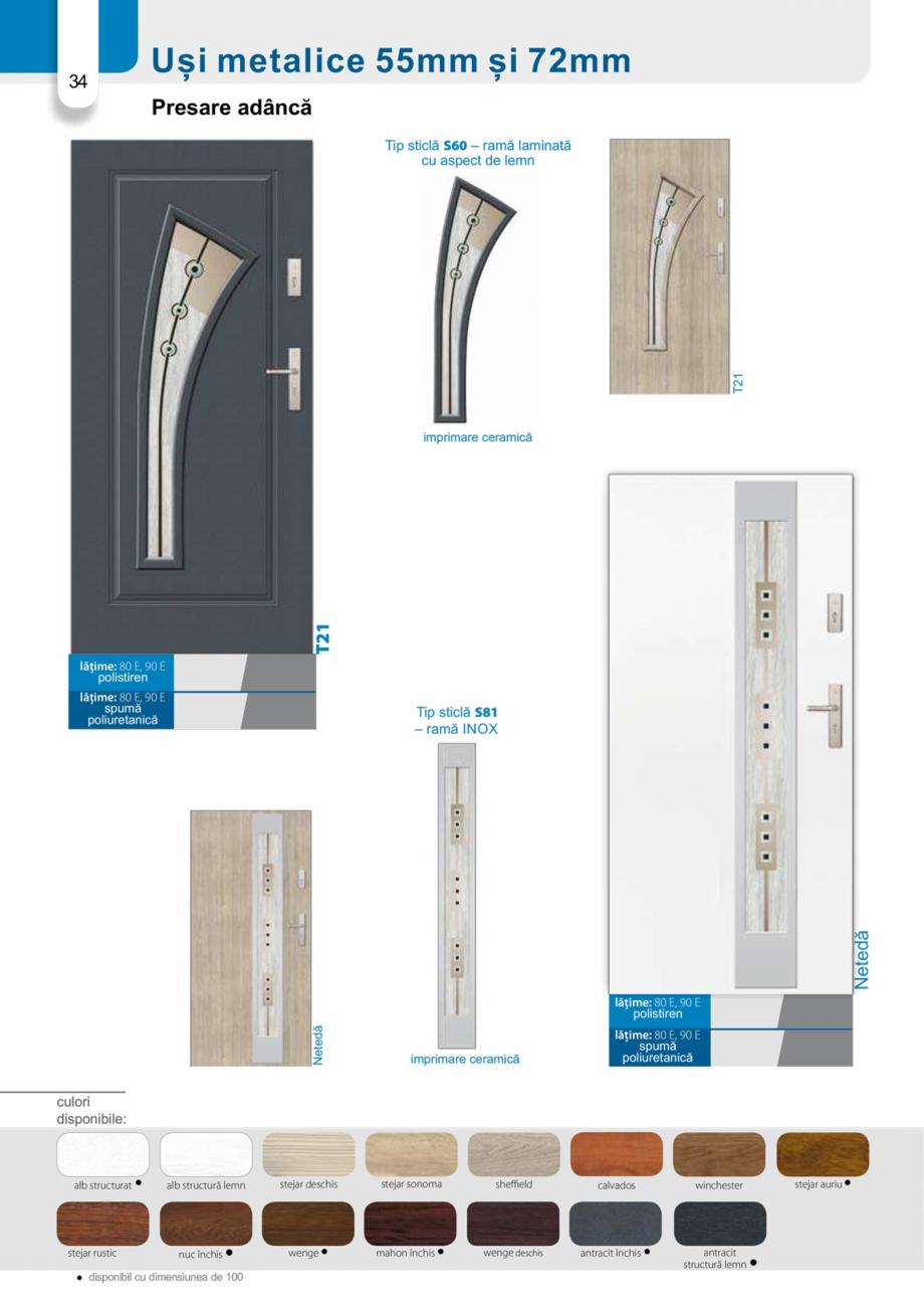 Pagina 33 - Catalog usi metalice pentru exterior Panoramika Mastertherm, 55  mm, 72 mm, 55 mm dubla,...