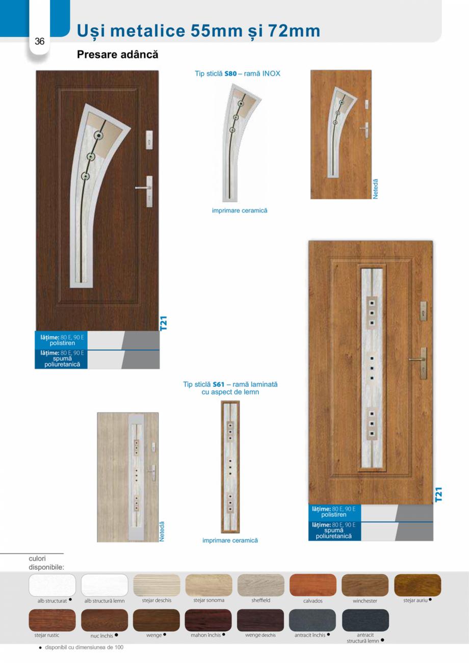 Pagina 35 - Catalog usi metalice pentru exterior Panoramika Mastertherm, 55  mm, 72 mm, 55 mm dubla,...
