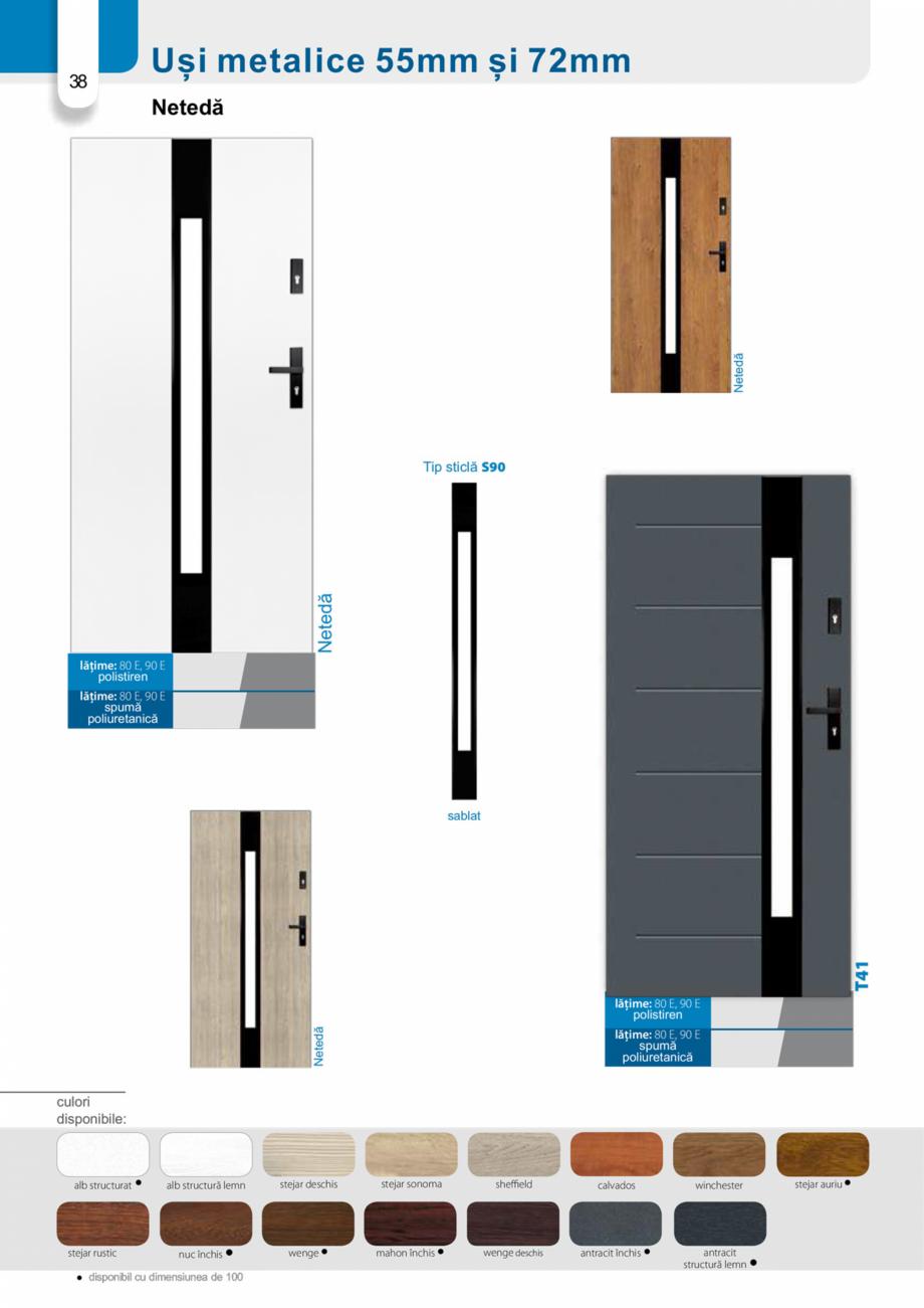 Pagina 37 - Catalog usi metalice pentru exterior Panoramika Mastertherm, 55  mm, 72 mm, 55 mm dubla,...