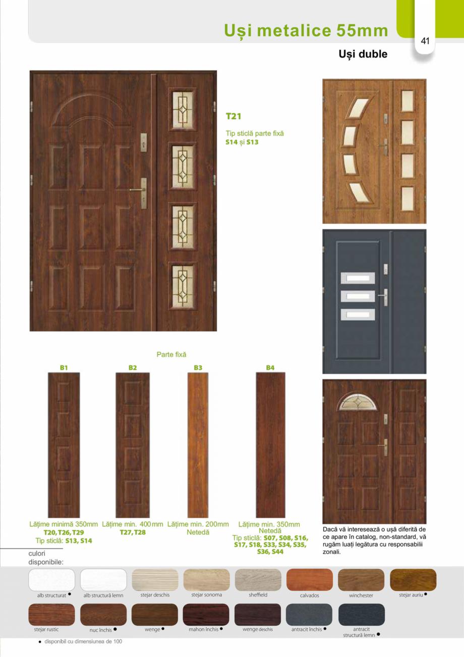 Pagina 40 - Catalog usi metalice pentru exterior Panoramika Mastertherm, 55  mm, 72 mm, 55 mm dubla,...