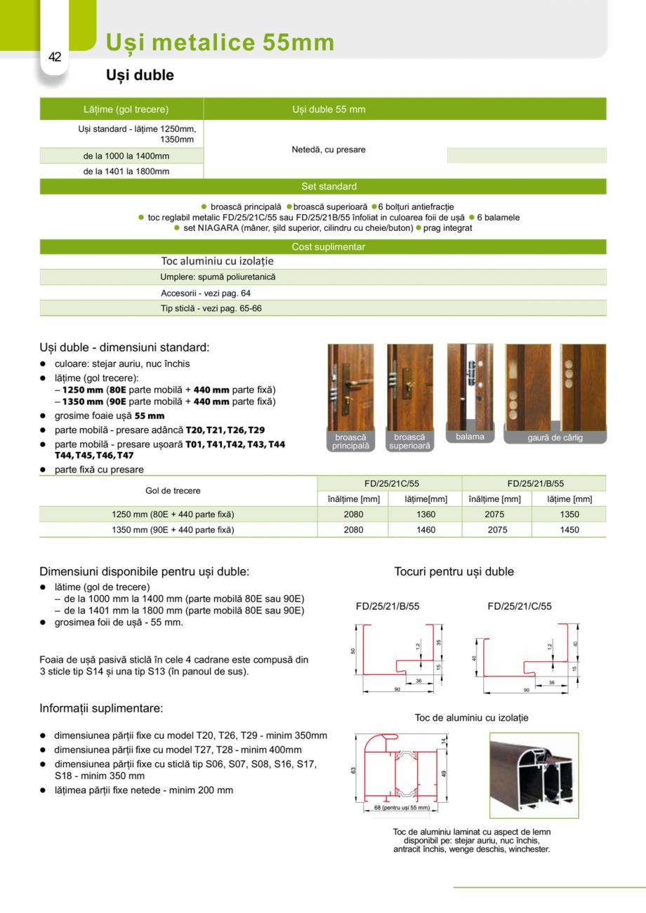 Pagina 41 - Catalog usi metalice pentru exterior Panoramika Mastertherm, 55  mm, 72 mm, 55 mm dubla,...