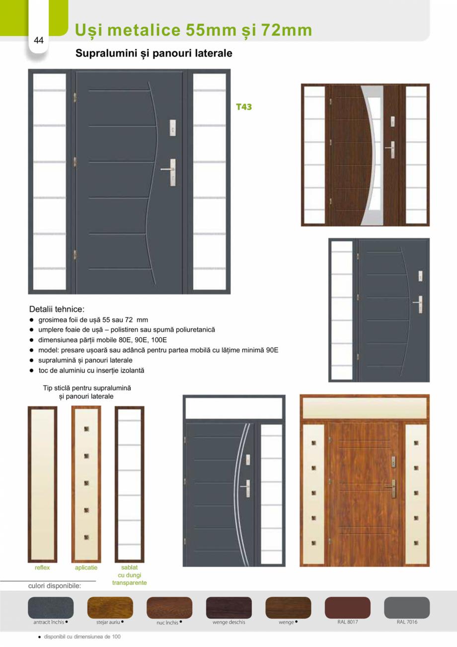 Pagina 43 - Catalog usi metalice pentru exterior Panoramika Mastertherm, 55  mm, 72 mm, 55 mm dubla,...
