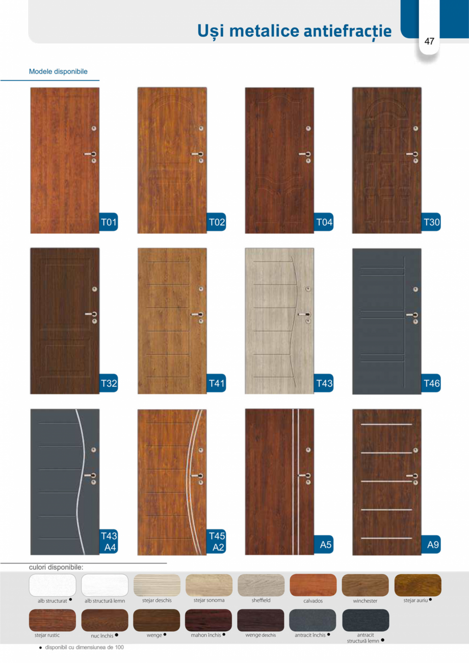 Pagina 46 - Catalog usi metalice pentru exterior Panoramika Mastertherm, 55  mm, 72 mm, 55 mm dubla,...