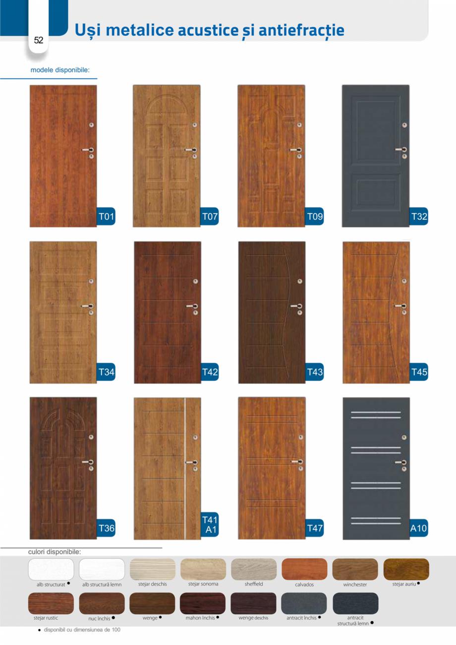 Pagina 51 - Catalog usi metalice pentru exterior Panoramika Mastertherm, 55  mm, 72 mm, 55 mm dubla,...