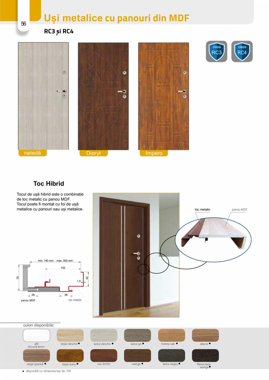 Pagina 55 - Catalog usi metalice pentru exterior Panoramika Mastertherm, 55  mm, 72 mm, 55 mm dubla,...