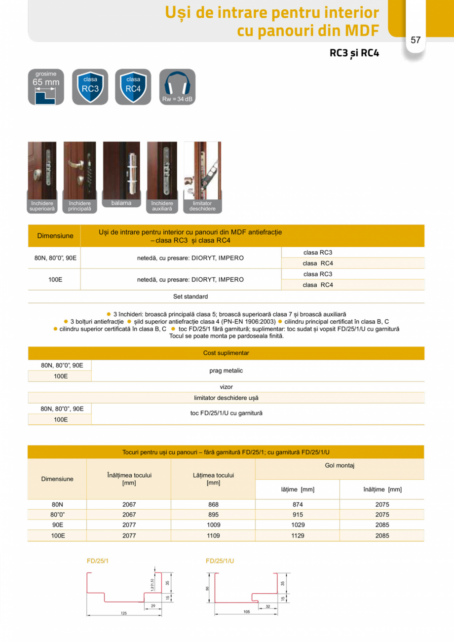 Pagina 56 - Catalog usi metalice pentru exterior Panoramika Mastertherm, 55  mm, 72 mm, 55 mm dubla,...