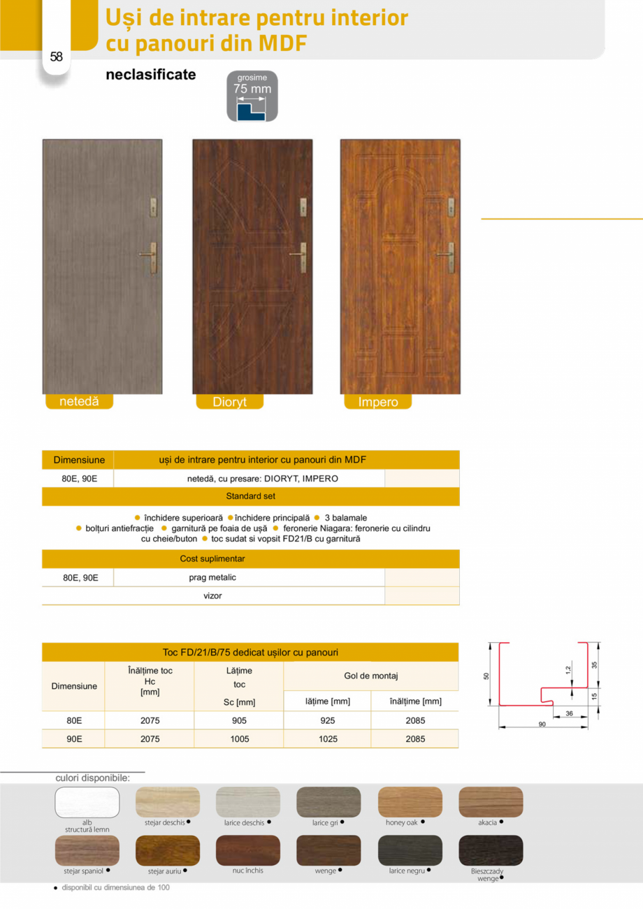 Pagina 57 - Catalog usi metalice pentru exterior Panoramika Mastertherm, 55  mm, 72 mm, 55 mm dubla,...