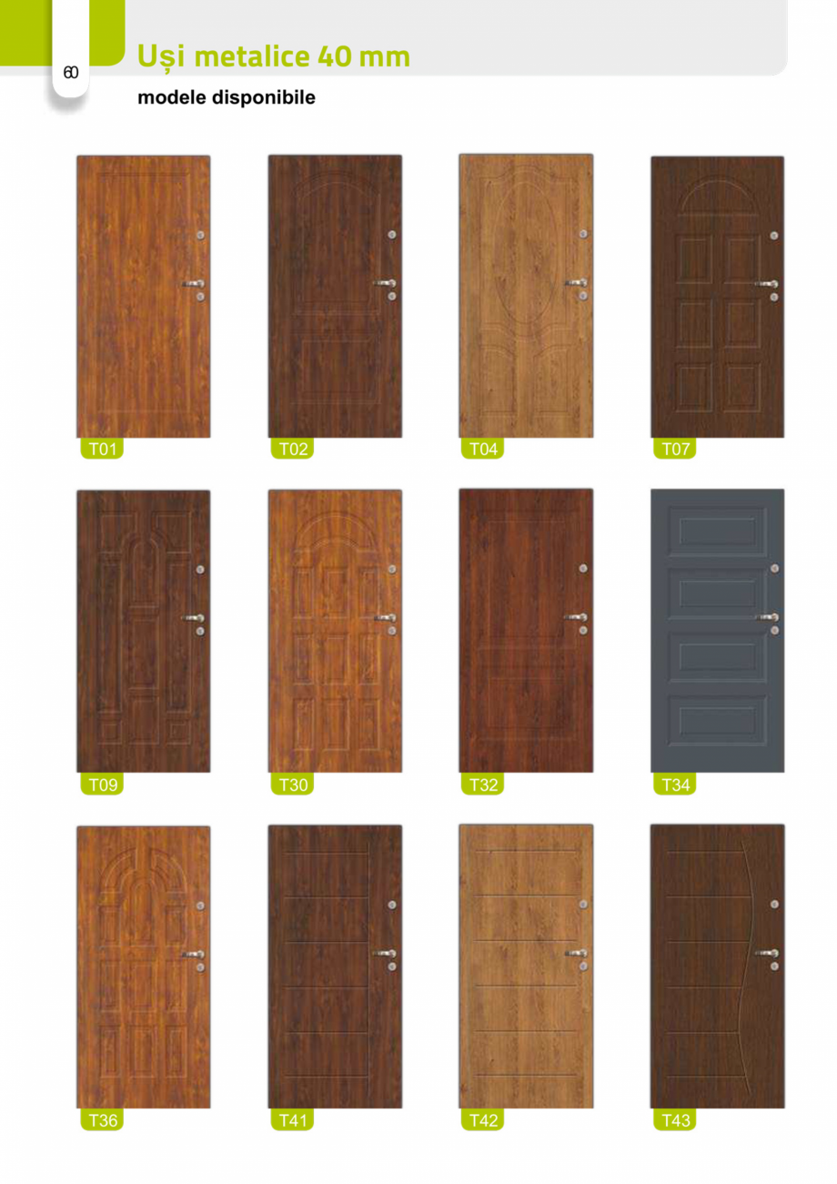 Pagina 59 - Catalog usi metalice pentru exterior Panoramika Mastertherm, 55  mm, 72 mm, 55 mm dubla,...