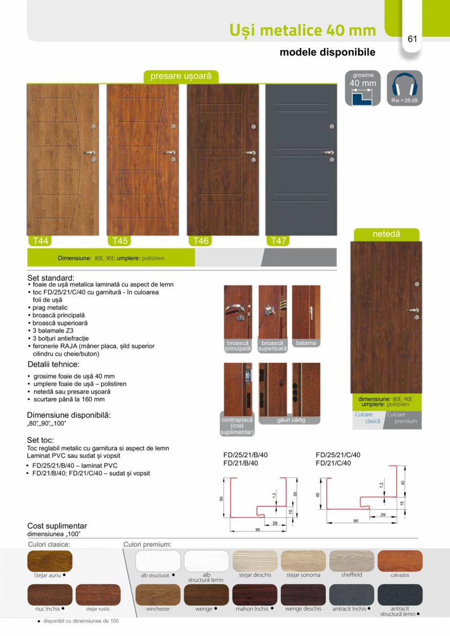 Pagina 60 - Catalog usi metalice pentru exterior Panoramika Mastertherm, 55  mm, 72 mm, 55 mm dubla,...