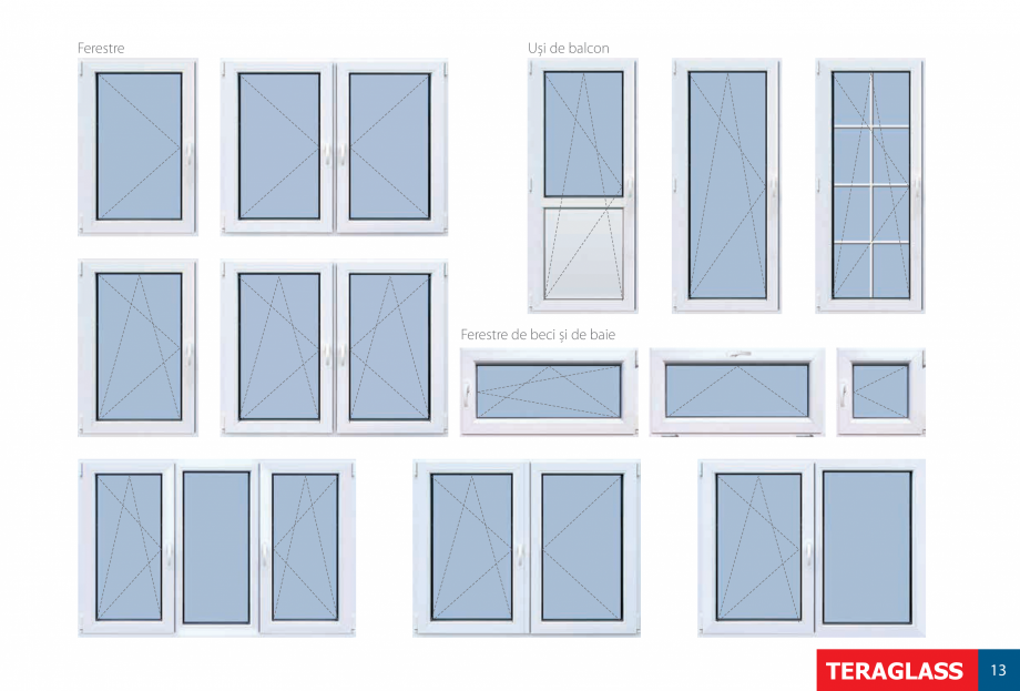 Pagina 15 - Ferestre si usi din PVC  Catalog, brosura Romana terior sau pentru balcon și terase...
