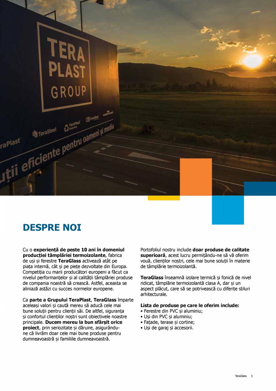 Pagina 3 - Catalog de produse TeraGlass 2020  Catalog, brosura Romana ărie, cel mai important...